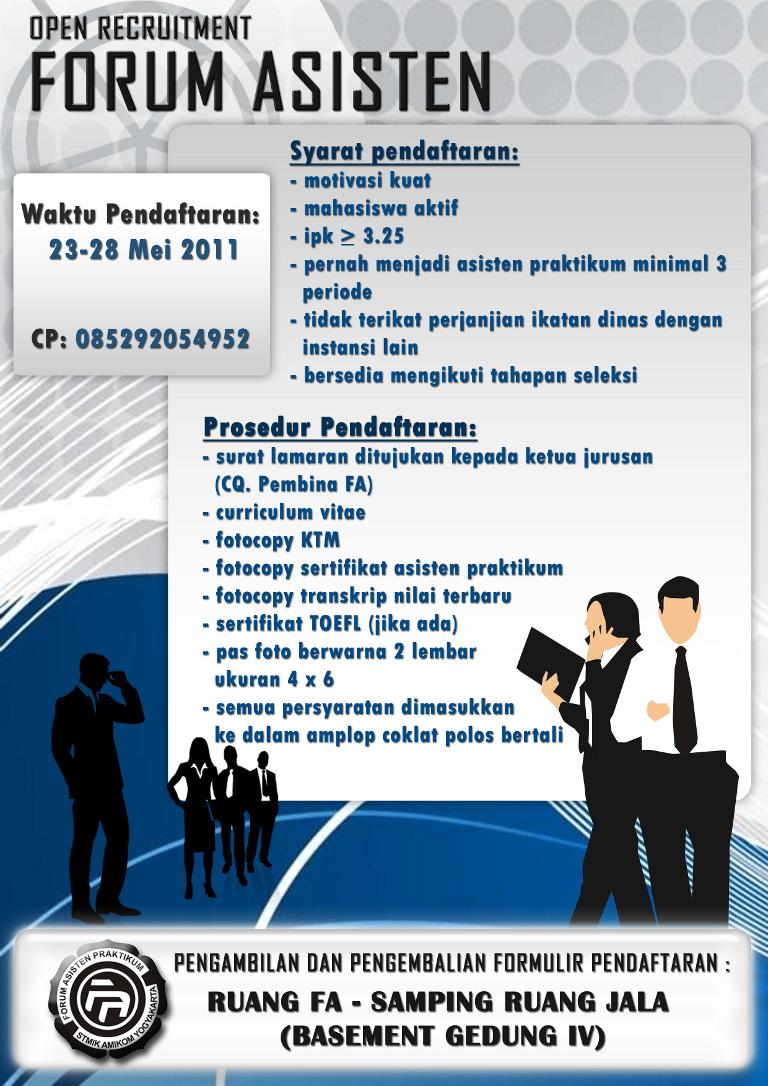 Open Recruitmen Forum Asisten Universitas Amikom Yogyakarta