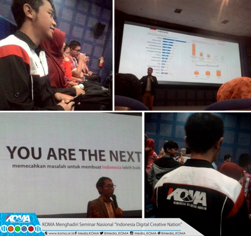 "KOMA On Seminar Nasional ""Indonesia Digital Creative Nation"""