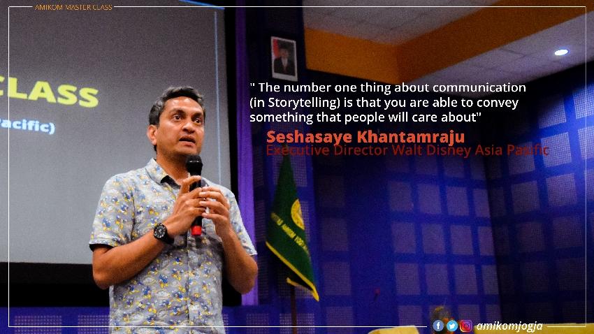 Executive Director Walt Disney Asia Pasific Berbagi Pengetahuan dalam AMIKOM MASTER CLASS