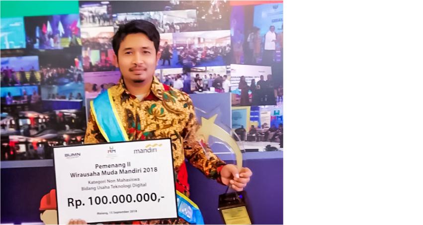 Mahasiswa Pascasarjana Universitas Amikom Yogyakarta berhasil menjadi Juara 2 Wirausaha Muda Mandiri (WMM) 2018