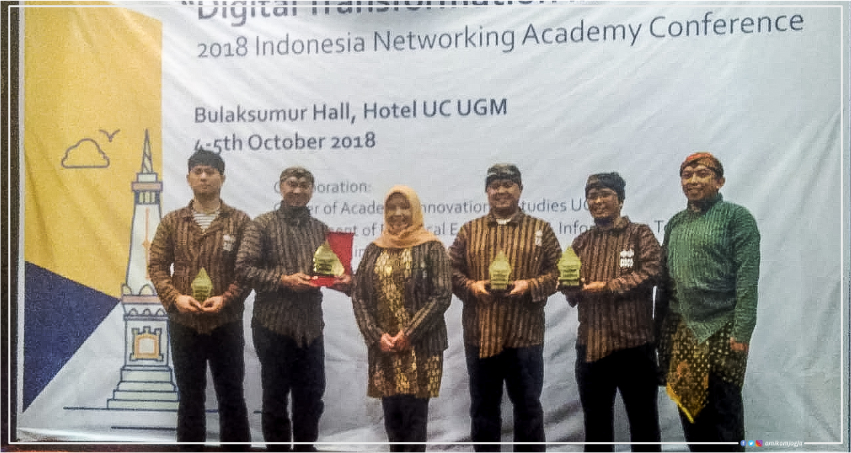 Cisco Network Academy Universitas Amikom Yogyakarta meraih penghargaan Best of the Best Academy dalam Cisco Indonesia Networking Academy Conference 2018