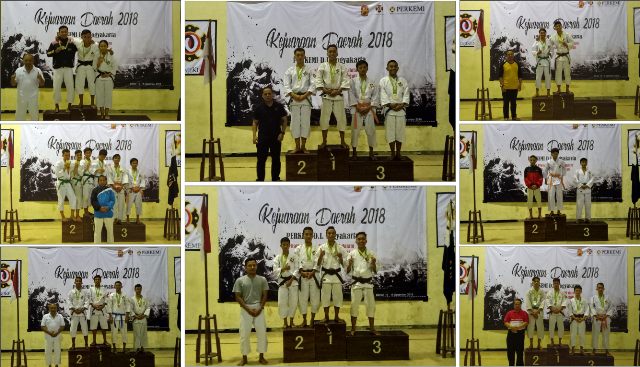 Shorinji Kempo Universitas Amikom yang tergabung dalam Kontingen Kab. Sleman berhasil menjadi Juara Umum di Kejurda Tahun 2018
