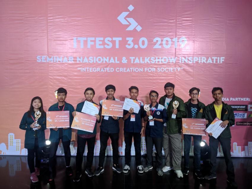 AMCC Menjadi Juara 2 IT FEST Universitas Sumatera Utara 3.0 2019