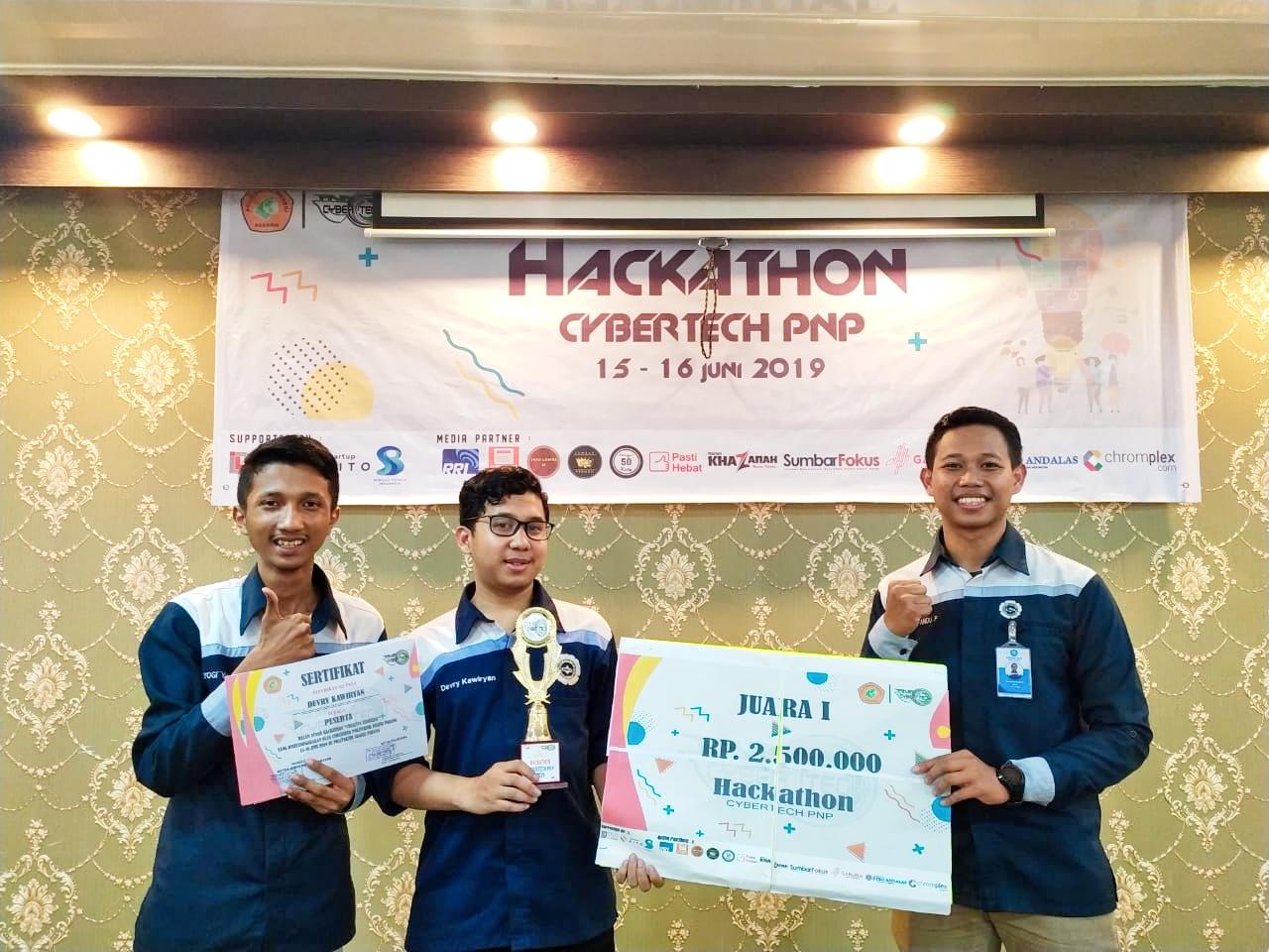 AMCC AMIKOM Yogyakarta Meraih juara pertama dalam Hackathon Cybertech Politeknik Negeri Padang
